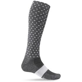 Giro Hightower Socks Merino Wool, charcoal/white dots